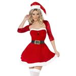 Rood Santa Belle kerstjurkje