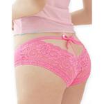 Roze Kanten Slip met strikje