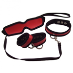 S&M 5PC Red Restraint Kit