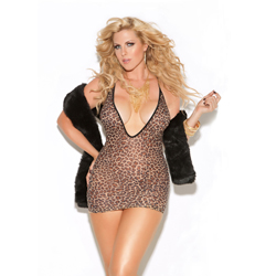 Mini Dress Leopard...