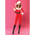 Santa Baby Catsuit Rood