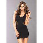 Sexy zwart mini jurkje Laura