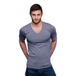 Dale V-hals T-Shirt - Grijs