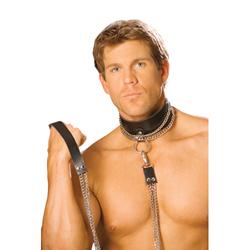 Lederen collar met...