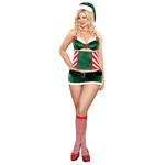 Head Elf Kerst setje Groen