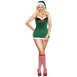 Santa's Helper Kerstjurkje Groen 2XL