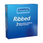 Pasante Ribbed condoms 3pcs