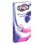 Chaps Genopte Roze Condooms 12 stuks