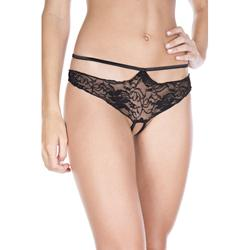 Lace Thong with Open Crotch and Hip strap -2