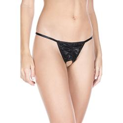 Pleated G-String With Open Crotch -2