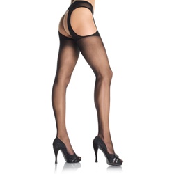 Suspender Pantyhose - Black