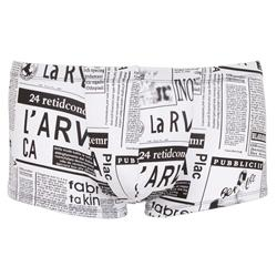 Heren Newspaper Boxer - Wit/Zwart