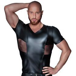 Wetlook Shirt With Powernet Inserts