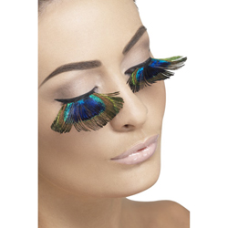 Eyelashes Peacock Feathers Contains Glue