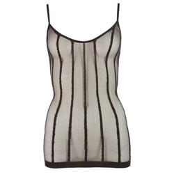 Translucent Mini Dress With Vertical Stripes