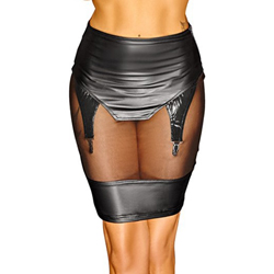 Skirt with Suspender Straps