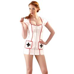 Lackkleid Nurse