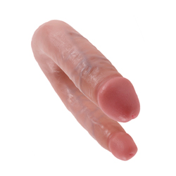 King Cock Small Double Trouble Flesh 33,5 cm