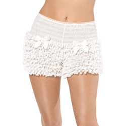 Fever Deluxe Pantaloons White Ruffled with Bows