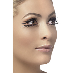 Eyelashes Black Top and Bottom Set Sparkle Contains Glue