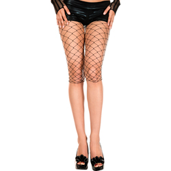 Diamond net capri BLACK