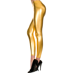 Lange Metallic Legging - Goud