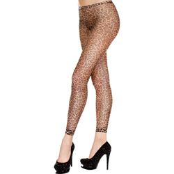 Fishnet Leggings With Leopard Print