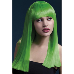 Fever Alexia Wig 19inch/48cm Neon Green Long Blunt Cut with Fringe
