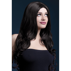 Fever Rhianne Wig 26inch/66cm Brown Long Soft Curl with Centre Parting