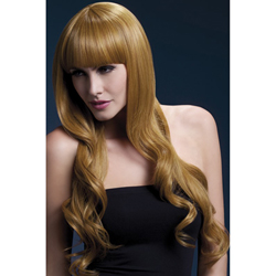 Fever Yasmin Wig 28inch/71cm Auburn Long Loose Curls with Fringe