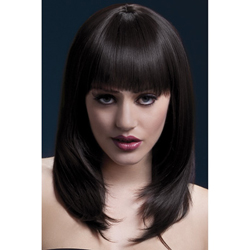 Fever Tanja Wig 19inch/48cm Brown Feathered Cut with Fringe