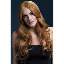 Fever Khloe Wig 26inch/66cm Auburn Long Wave with Centre Parting