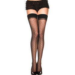 Classic Stockings With Polka Dots - Zwart