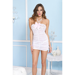 Strapless Mini Dress - Pink
