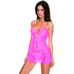 Transparent Mini Dress - Pink