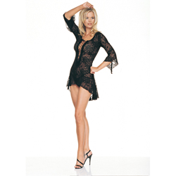 2Pc. Lace Flair Sleeves Dress