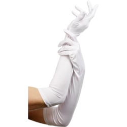Gloves White Long 52cm/20.5 inches