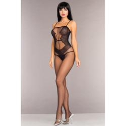 Open Bodystocking With Lace Design
