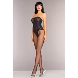 Strapless Bodystocking With Open Crotch
