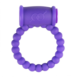 Cockring with Vibrator - Purple