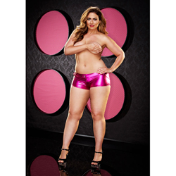 Twerk It Short - Plus Size - Roze