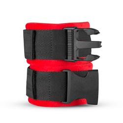 Harley Ankle Cuffs - Red