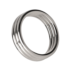 Echo 1.75 Inch Stainless Steel Triple Cock Ring