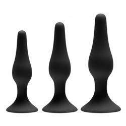Siliconen anaal trainer set - 3 stuks