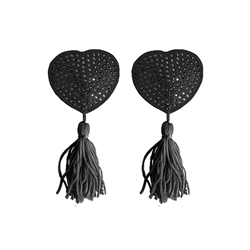 Nipple Tassels Heart Black
