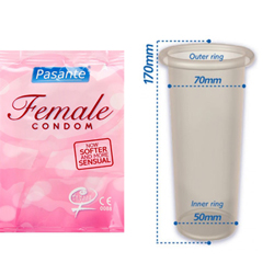 Pasante Female Condoms 3pcs