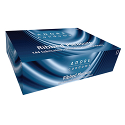 Adore Ribbed condoms 144 pcs