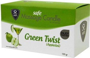 Safe Massage Candle Green Twist