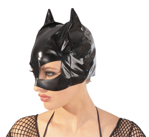 Lack Cat-Mask schwarz