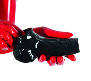 Latex Penis- En Balsleeve Met Open Top